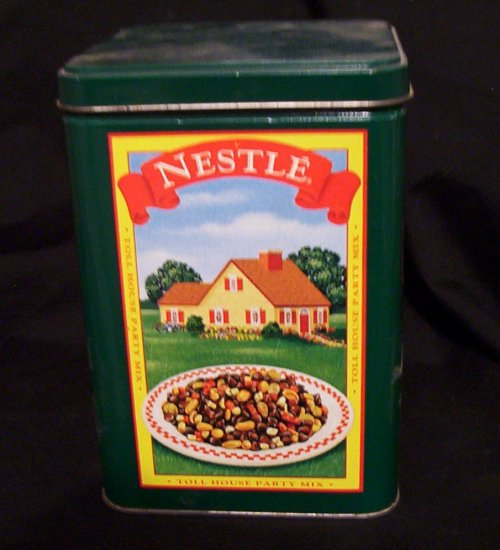 """Nestle Tin Toll House Canister 4"""" x 6"""""""