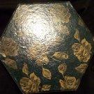 Vintage Hexagon Cardboard Candy Box