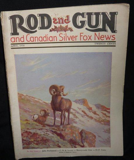 Vintage Rod & Gun Magazine April 1930