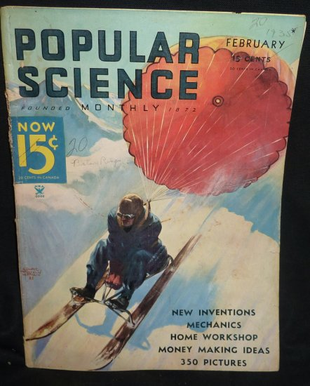 Vintage Popular Science Magazines 1930's -1933 - (17 in total) A