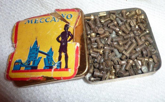 Vintage rare antique Meccano tin box (London Bridge)