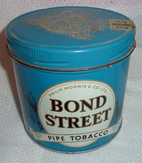 Vintage Philip Morris & Co. Bond Street Pipe Tobacco Can