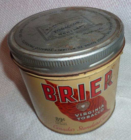 Vintage Brier Tobacco Can WC MacDonald
