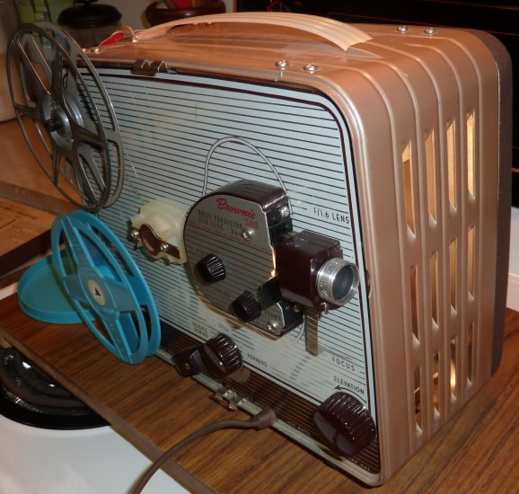 Vintage Brownie 300 8mm Projecter with 4 reels