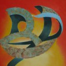 The Curve in Motion - An Abstract in Oil - original by Ted Ingram Circa 1975 -78