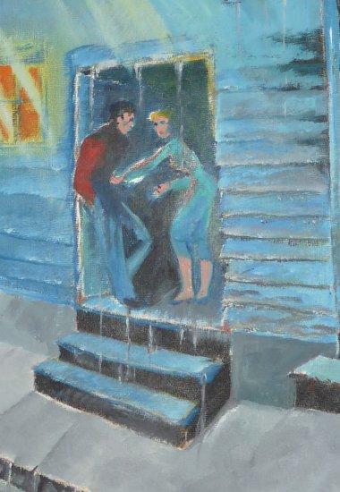 Prostitute on Pond St. (Saint John N.B.)- Original Artwork by A.E  (Ted) Ingram)