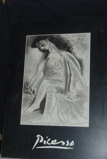 The Nude by Pablo Picasso (Reproduction mounted on 10mm beveled board)