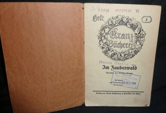 ImZauberwald by Kranz=Bucherei/Heft 2 (Rapunzel) 1930-1940's