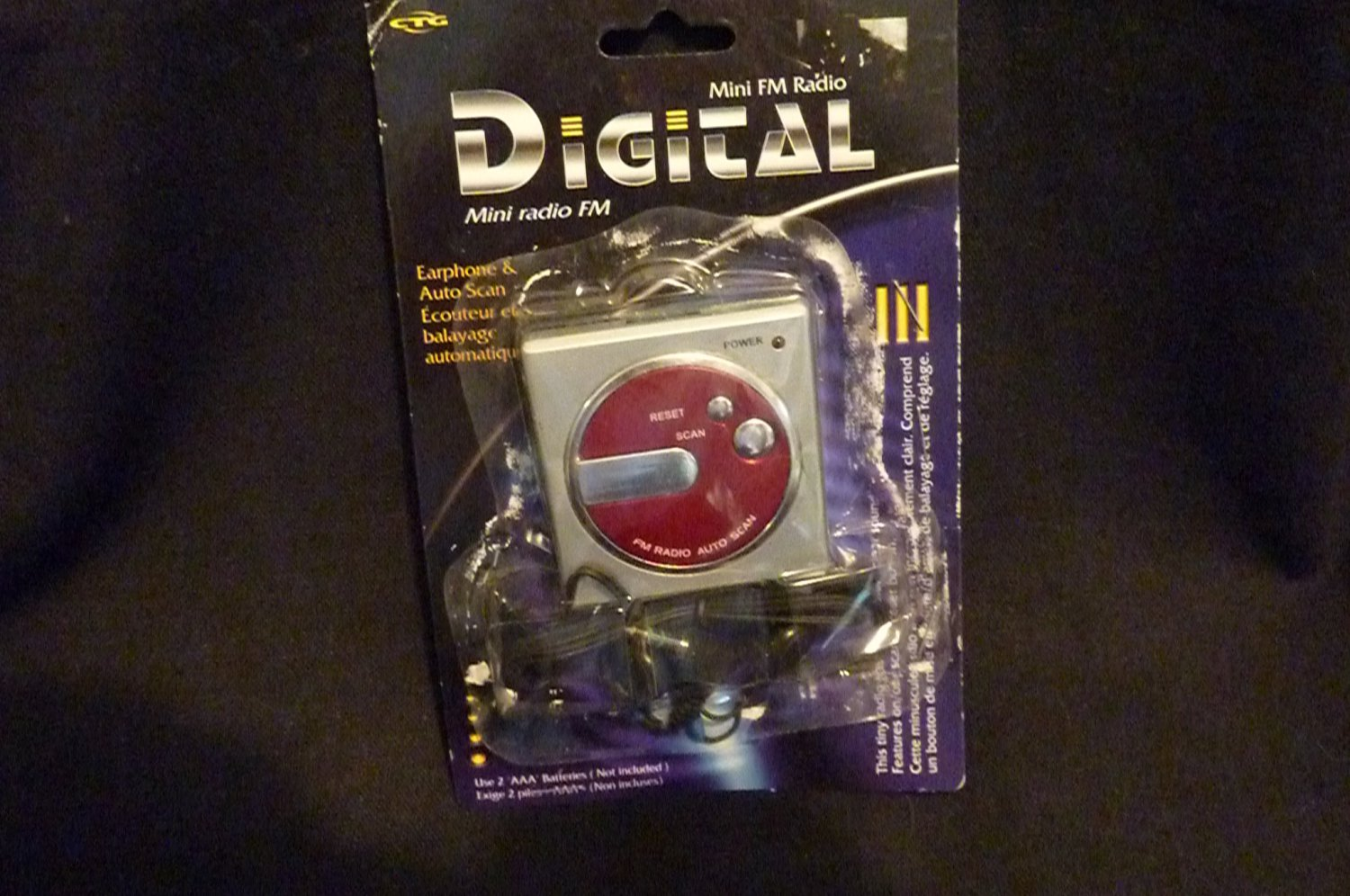 Mini FM Digital Radio #31136 with Earphone and Auto Scan