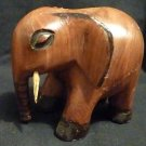Kenyan (Tisi) Carved Elephant -Teak Wood