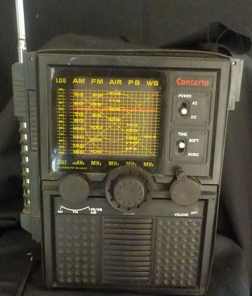 Vintage Concerto AM/FM AC/DC PB/WB AIR Radio