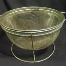 Vintage Stainless Steel  Flour Sifter on a Stand