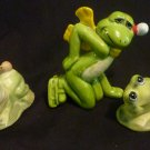 3 - Frog Night Ceramic Aquarium frogs