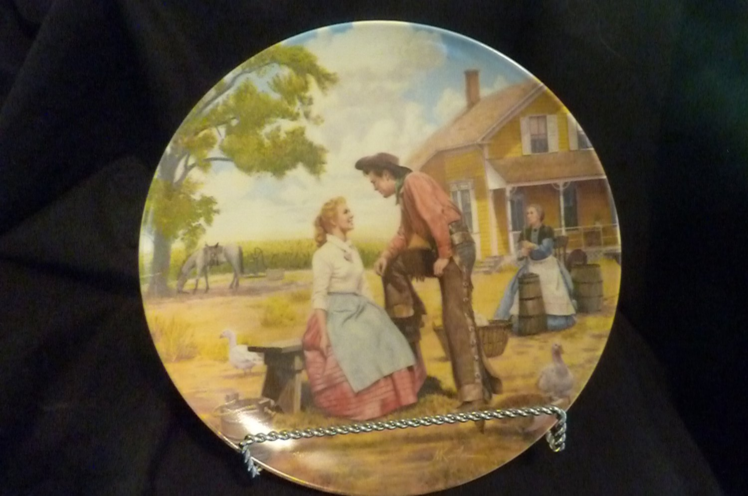 """Knowles Collector Plate """"Oh, What a Beautiful Mornin'"""" Mort Kunstler (Oklahoma)"""