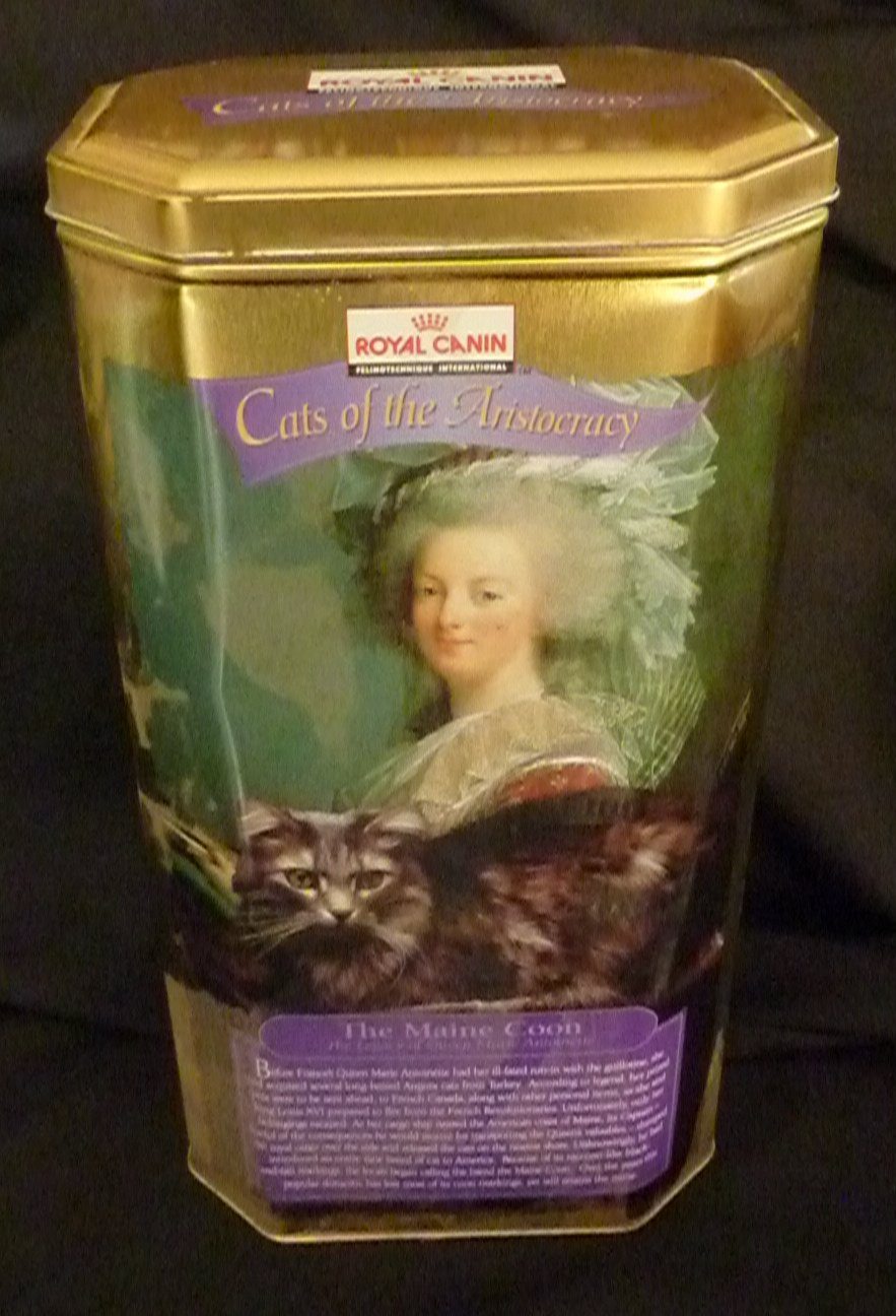 """Royal Canin """"Cats of the Aristocracy"""" - Maine Coon/Marie Antoinette Canister"""