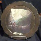 "13 1/2"" Diameter Wooden Plaque/Tray ""The Last Shore"""