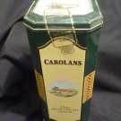 Collectible Carolans Finest Irish Cream Liqueur Empty Tin Container Hinged Green