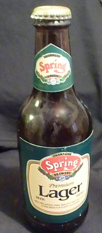 Okanagan Spring Brewery Premium Lager Beer Bottle with Cap