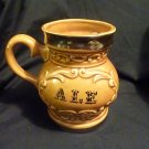 'Ale' ceramic potbellied mug 'G' Japan 346