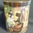 Late 1800's motif 'Tea Time' Cannister