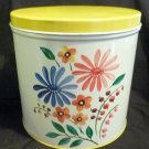 Vintage NC Colorware Floral Cannister - 1950's