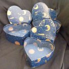 Heart Boxes (3 - Stacking) Design is Astrological Signs