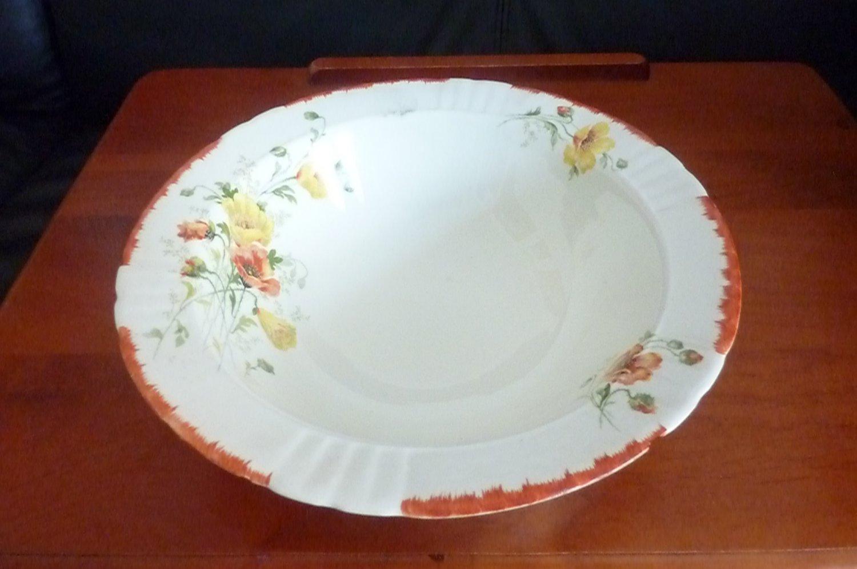 Myott Salad (or dessert) Bowl - Rose Design 1931