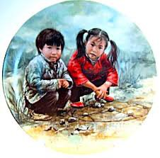 """First in Series Collectors Plate """"Chinese Chess"""" 1985"""