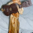 Mexican Paper Mache Sculpture Woman with Guitar