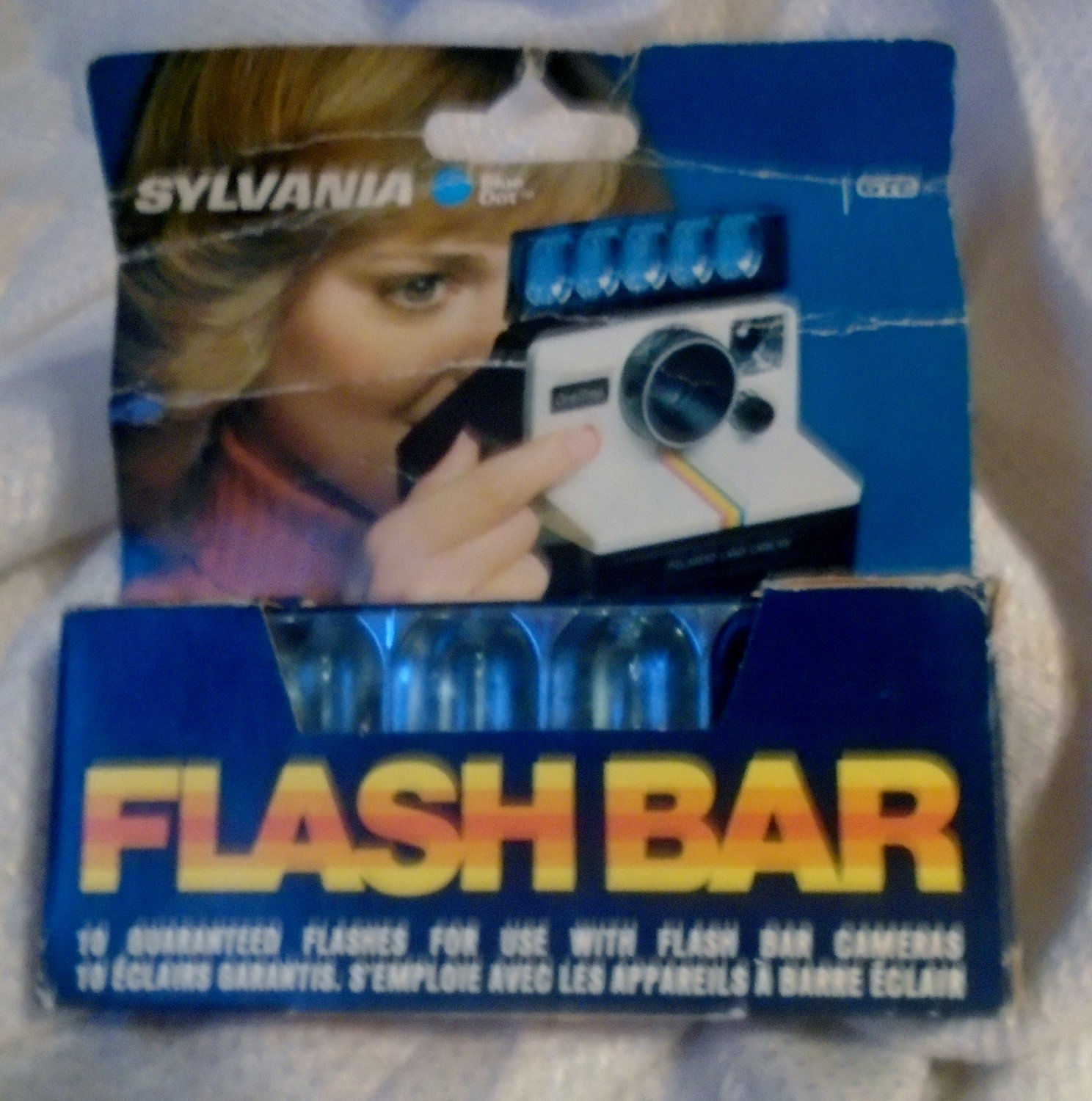 Sylvania Blue Dot Flash Bar with 10 Flashes Vintage Unused Package