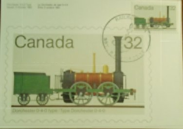 Canada 1984 Railroadiana First Day Cover Post Card Limited Edition #94 of 300