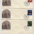 FDC AL91 Canada 1982 Christmas Set 3 pcs