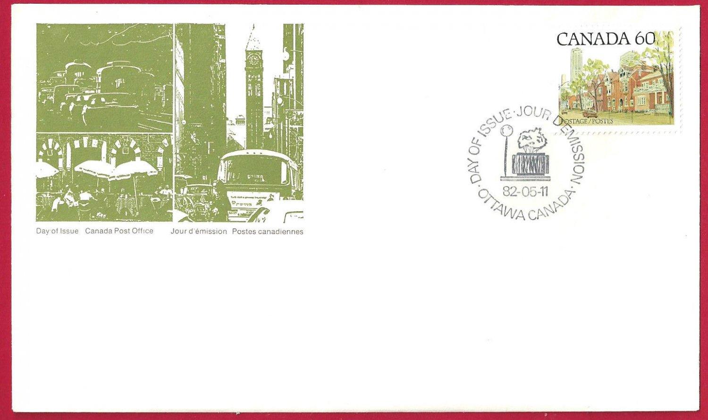 1982 Canada 60c OFDC # 723c ONTARIO STREET SCENE