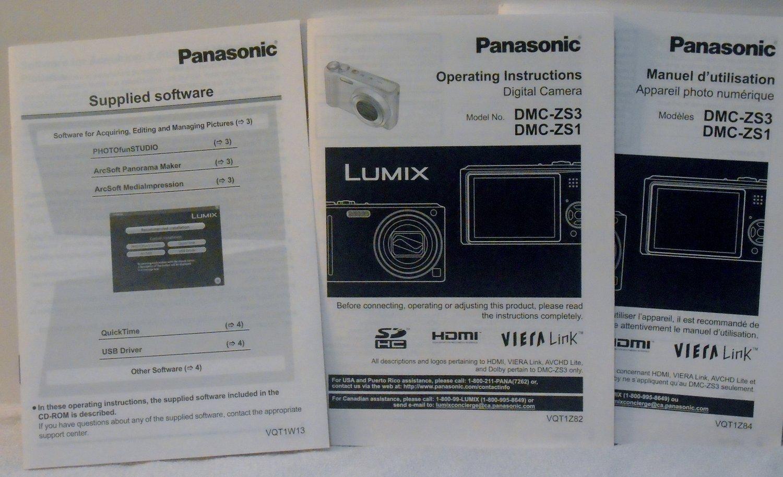 Panasonic Lumix DMC FX01 Original Operating Instruction English and French