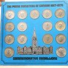 Prime Ministers of Canada Commemorative Medallions