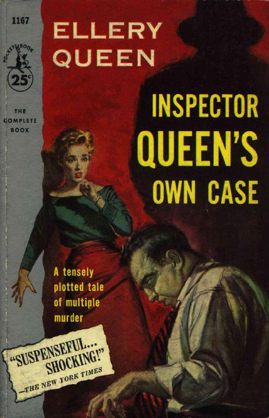 RARE 1957 Ellery Queen PB Inspector Own Case Paper Back