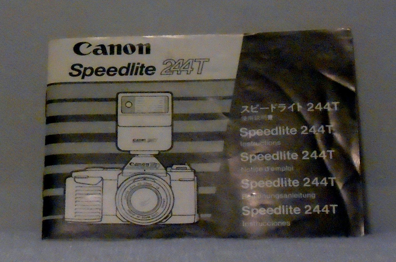 Canon Speedlite 244T Instruction Manual