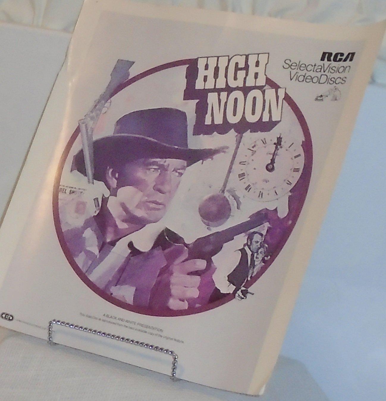 Vintage CED High Noon Western Classic Movie Videodisc RCA Selectavision