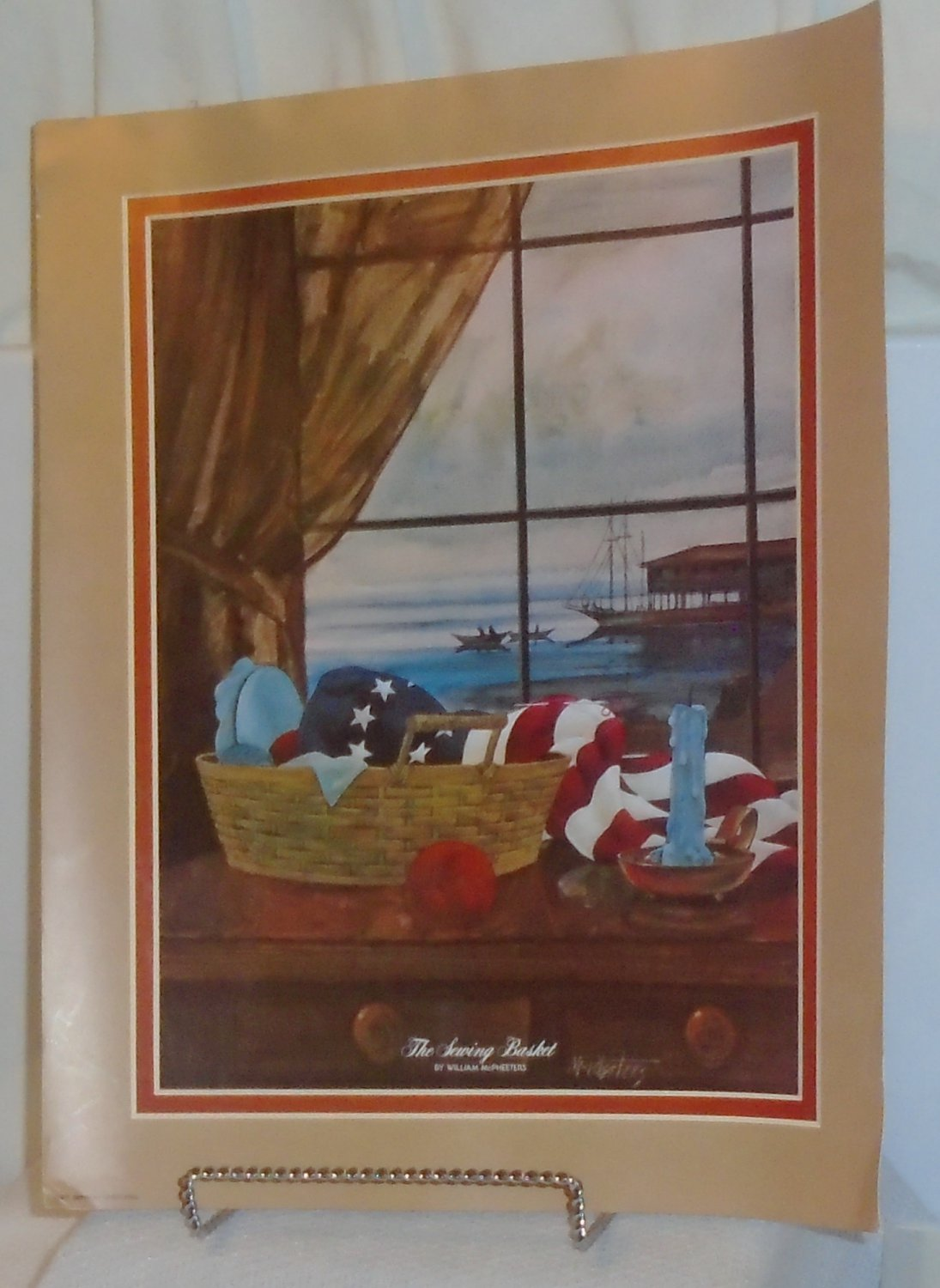 The Sewing Basket -Poster-William McPheeter 1975 American Advertisers