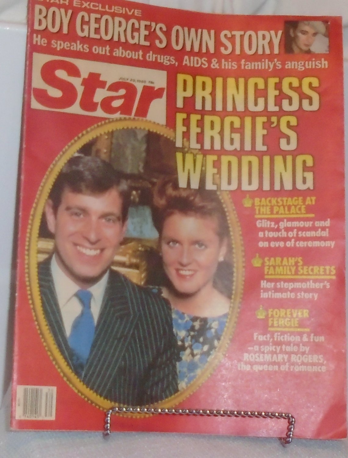 Star magazine July 29 1986 Princess Fergie, Boy George