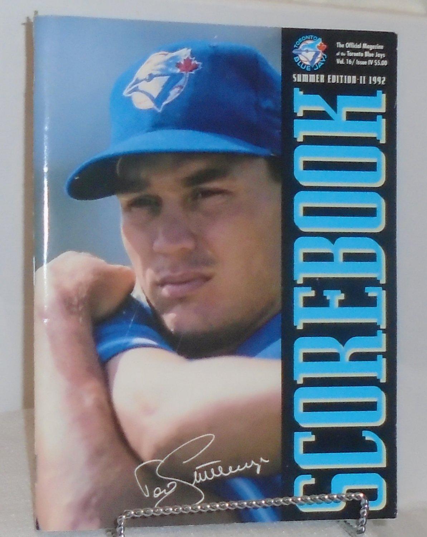 Scorebook Magazine Toronto Blue Jays Summer Edition -II-1992 Cover Vol. 16 Issue IV