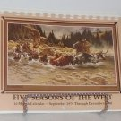 Five Seasons of the West - 16 Month Calendar Sept 1979-December 1980 Leanin' Tree