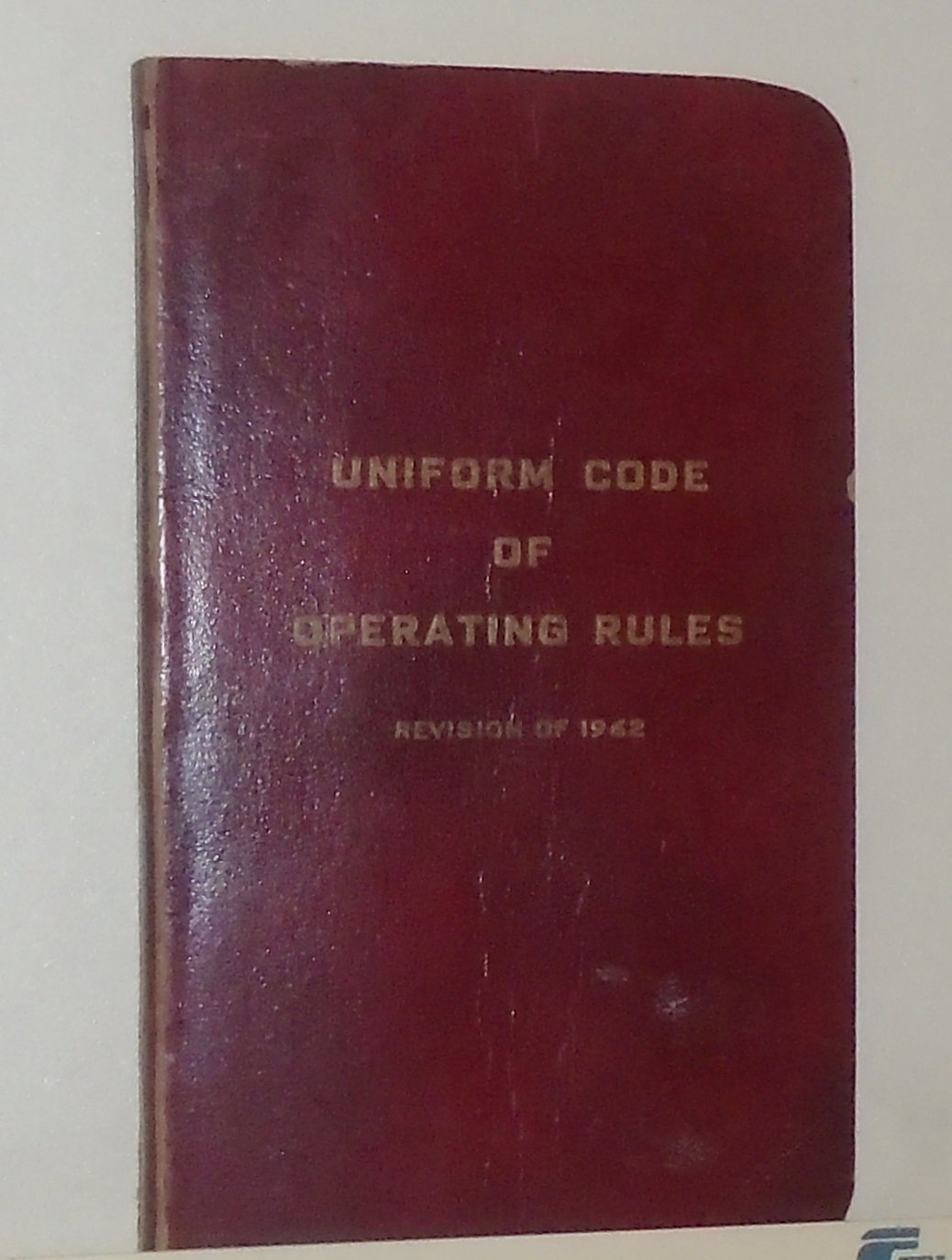 1962 CANADIAN RAILROAD UNIFORM CODE OF OPERATING RULES REVISION RARE RR RAILWAY