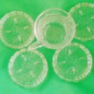 Crystal tea cup pinwheel design + 4 Coasters