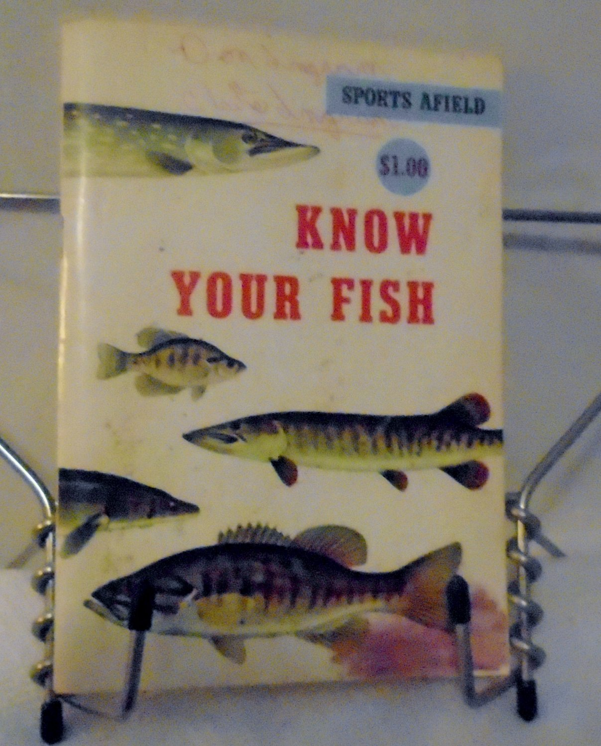 Know your fish paperback - A book  vintage 1960 sports afield tom dolan