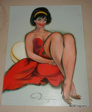 Cheesecake an expression in Sensuality - Original Artwork by A. E. (Ted Ingram)