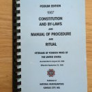 Vintage VFW Constitution and By Laws 1987 and Quartermasters Manual 1989
