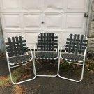 Vintage Lot Of 3 Duralite Mesh Aluminum Lawn Chair