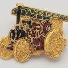 Vintage Road Locomotive Traction Engine Enamel Pin Pinback