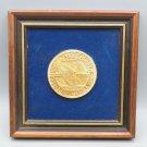 Vintage Conrail 10th Anniversary Coin Framed Plaque Goldtone 1986 Souvenir Train